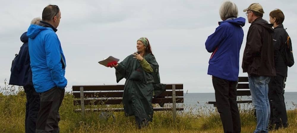 Storytelling Walk with Margot Henderson by the Moray Way Association along the Moray Coastal Trail, image by Diane Smith